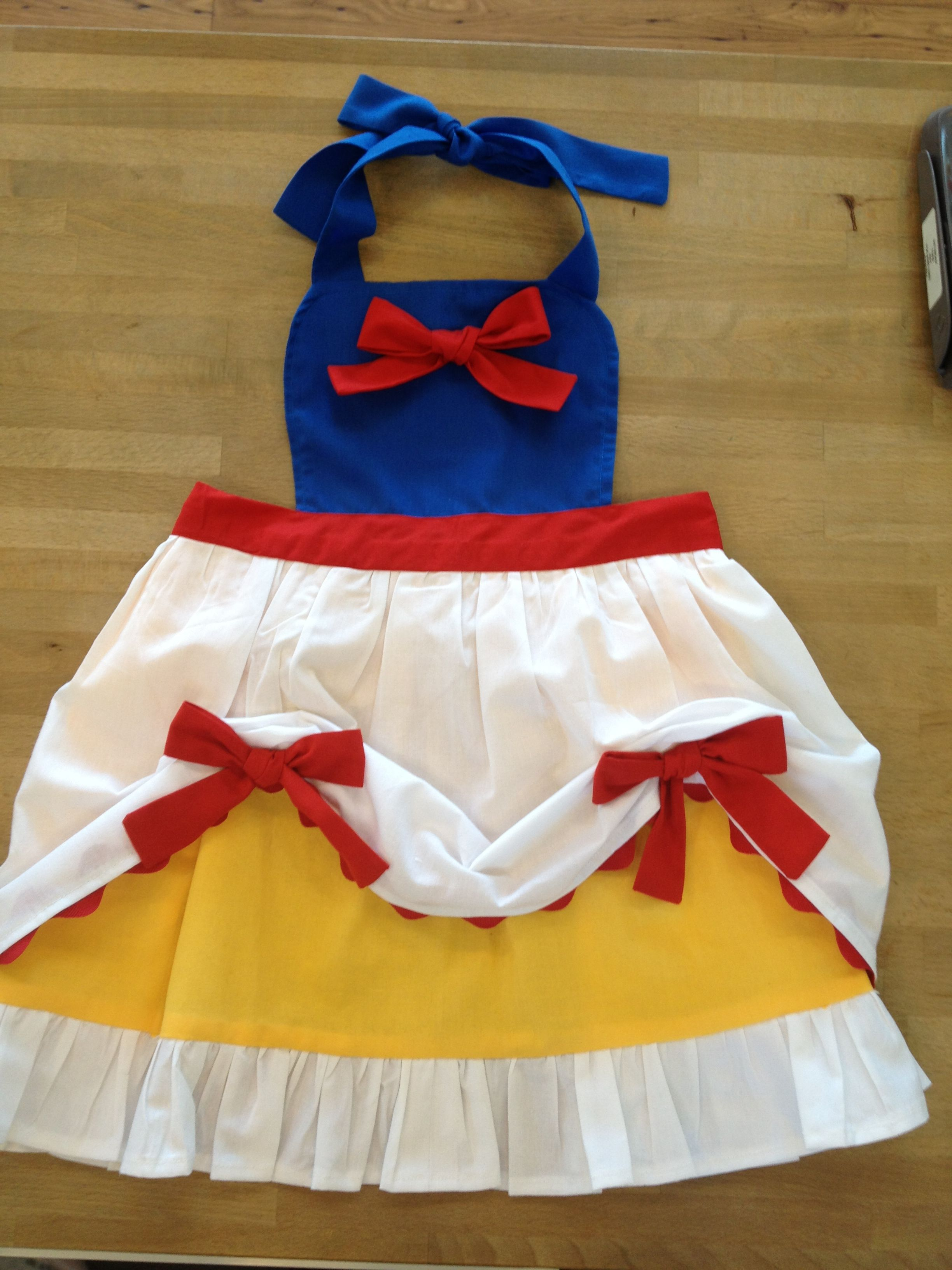 White apron belle - Change The Color From Snow White Colors And Turn Into Belle Apron