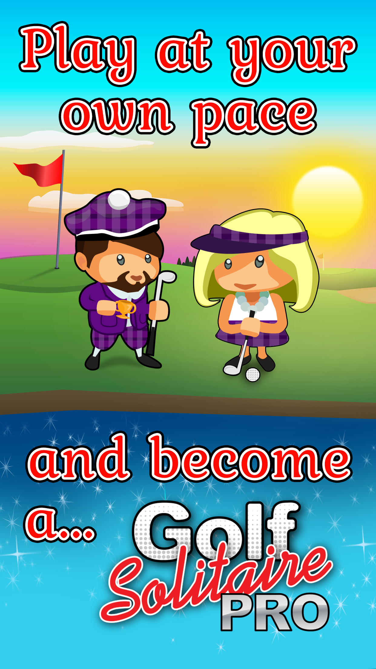 Golf Solitaire Pro is the cutest game around with lovely