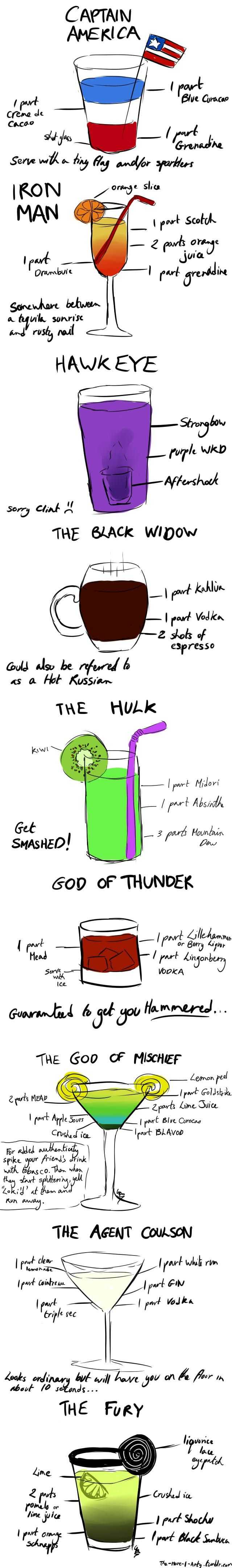 """9 """"The Avengers"""" Cocktails Recipes"""