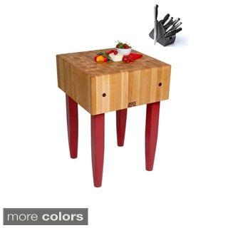 Shop For John Boos Color Choice PCA X Inch Wood Butcher - Boos gathering block ii 36x24 butcher block table 2 wicker basket
