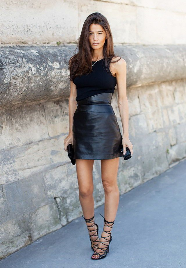 2016 Leather Skirts (1) | leather | Pinterest | Leather skirts and ...