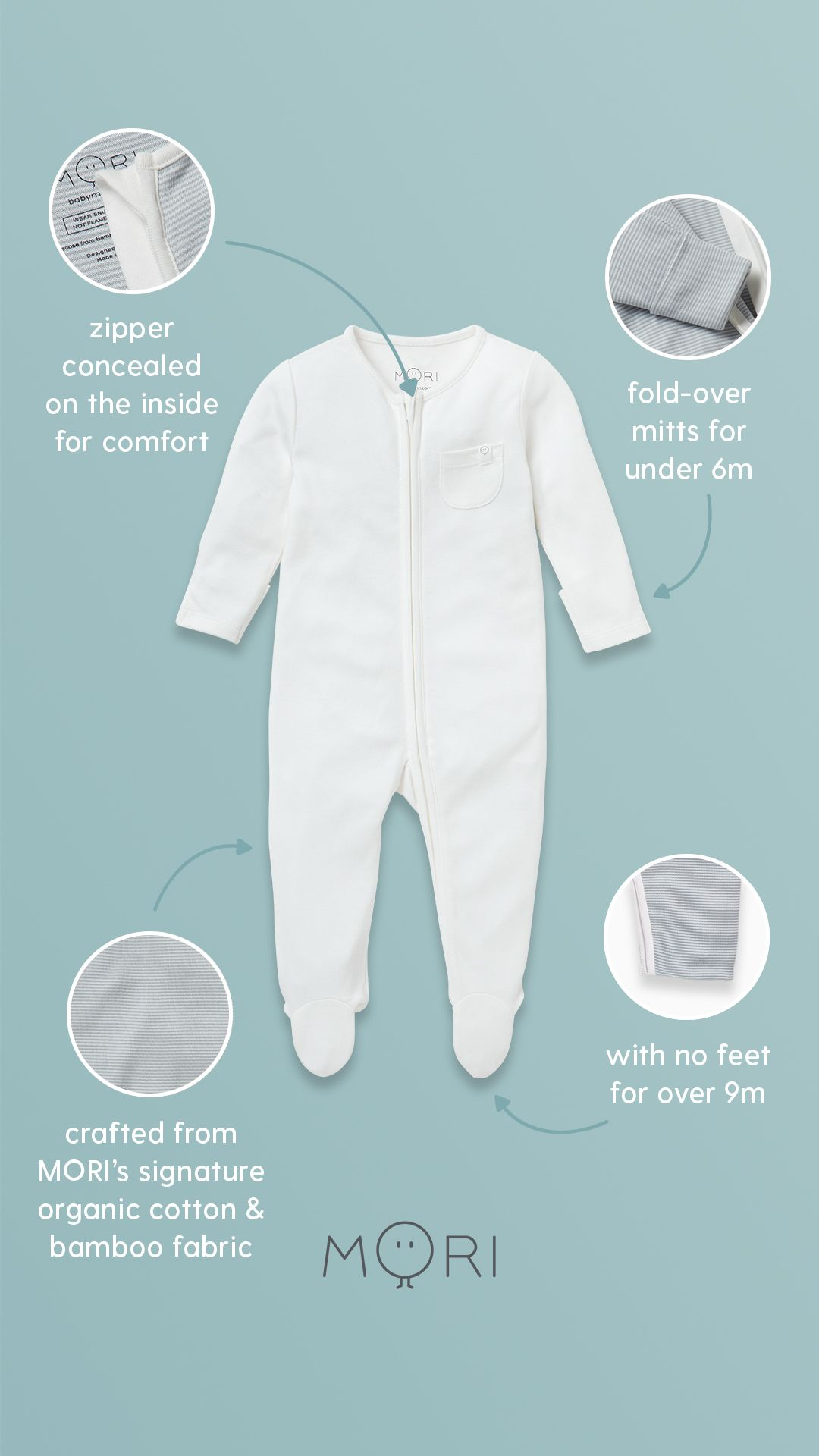 MORI Baby Clothes in 7  Soft baby clothes, Organic cotton baby