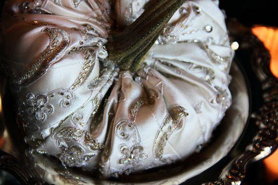 White Silver Pumpkins Wedding Centerpiece Bridal By Ornatesplendor Pumpkin Wedding Elegant Pumpkins