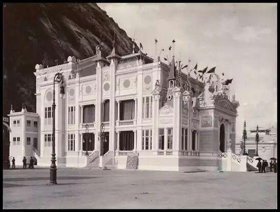 Pavilhão da Fabrica de Texidos Bangu na Primeira exposição nacional Rio de Janeiro