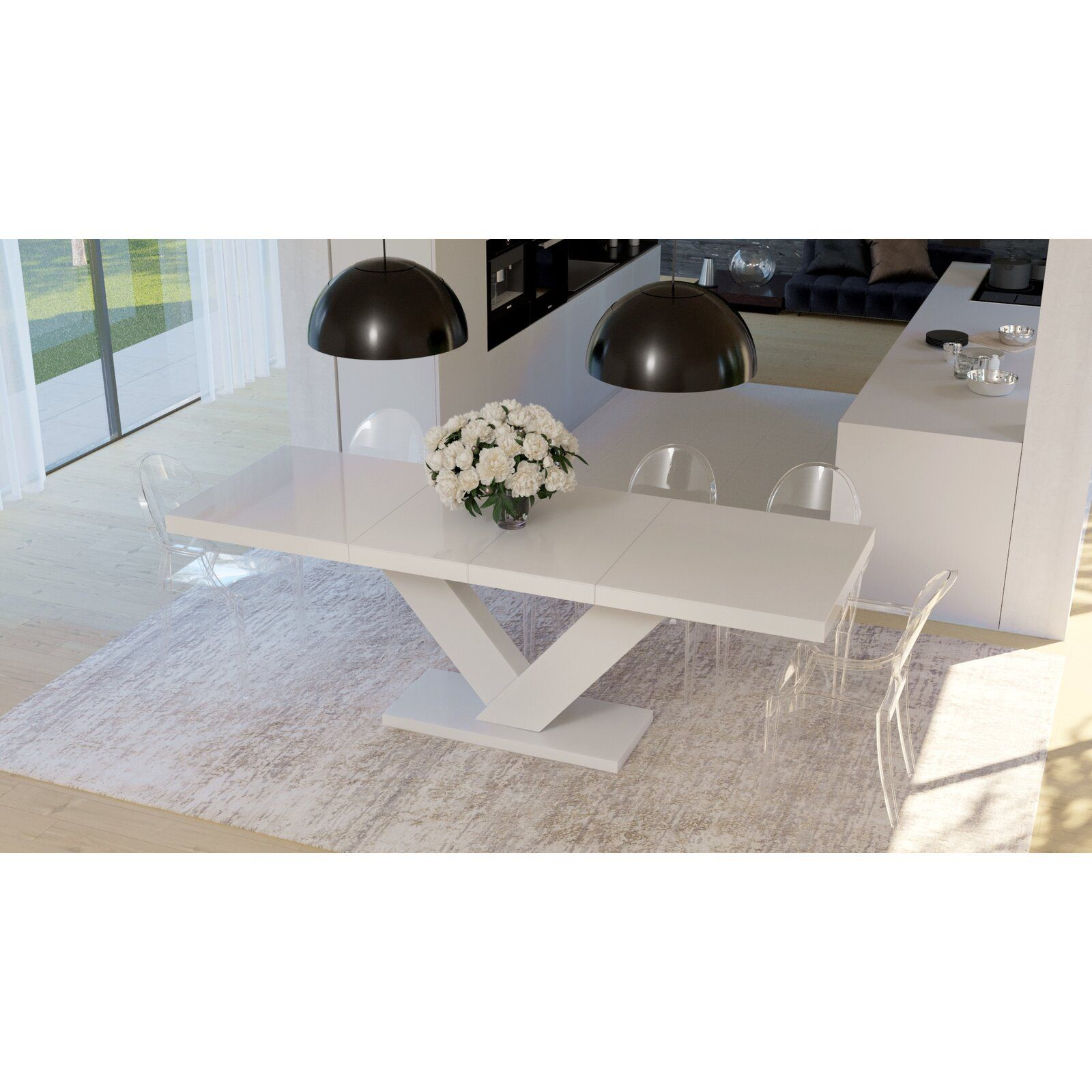 Orren Ellis Cann Extendable Dining Table Wayfair Extendable Dining Table Dining Table Dining Table In Kitchen