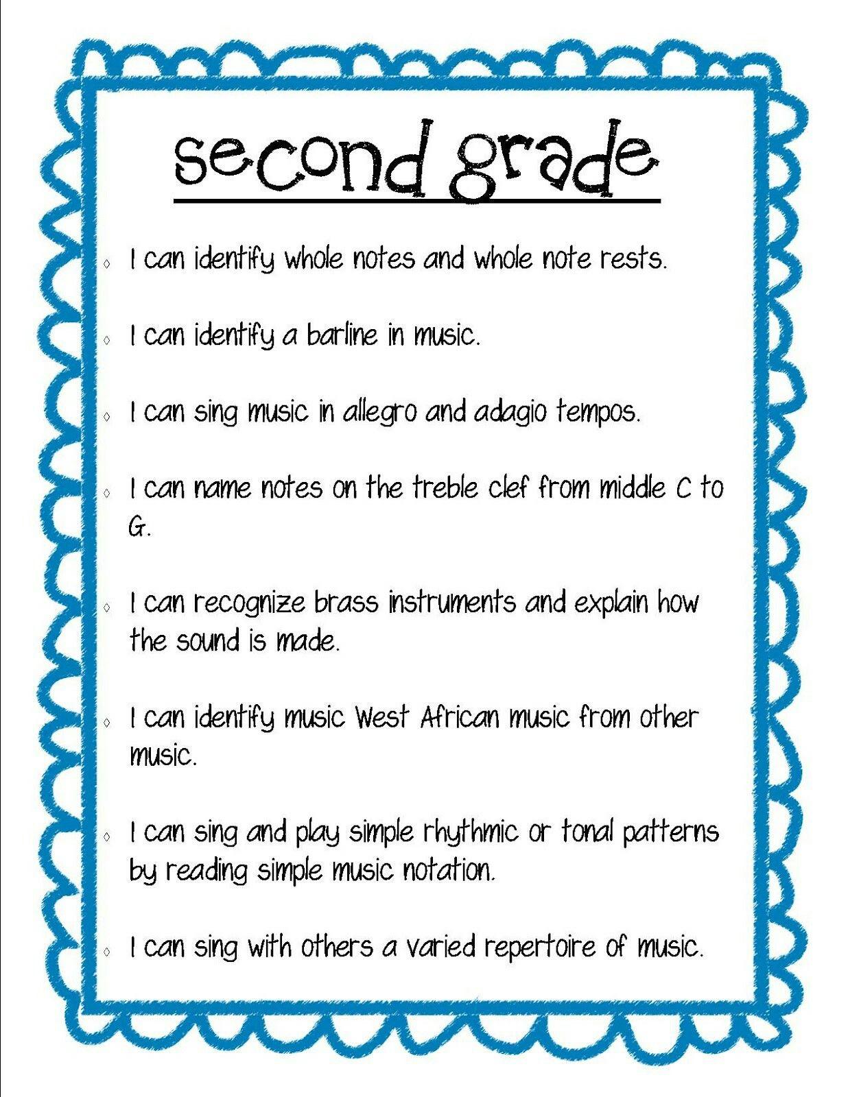 medium resolution of Teach Music Second Grade   Elementary music lessons