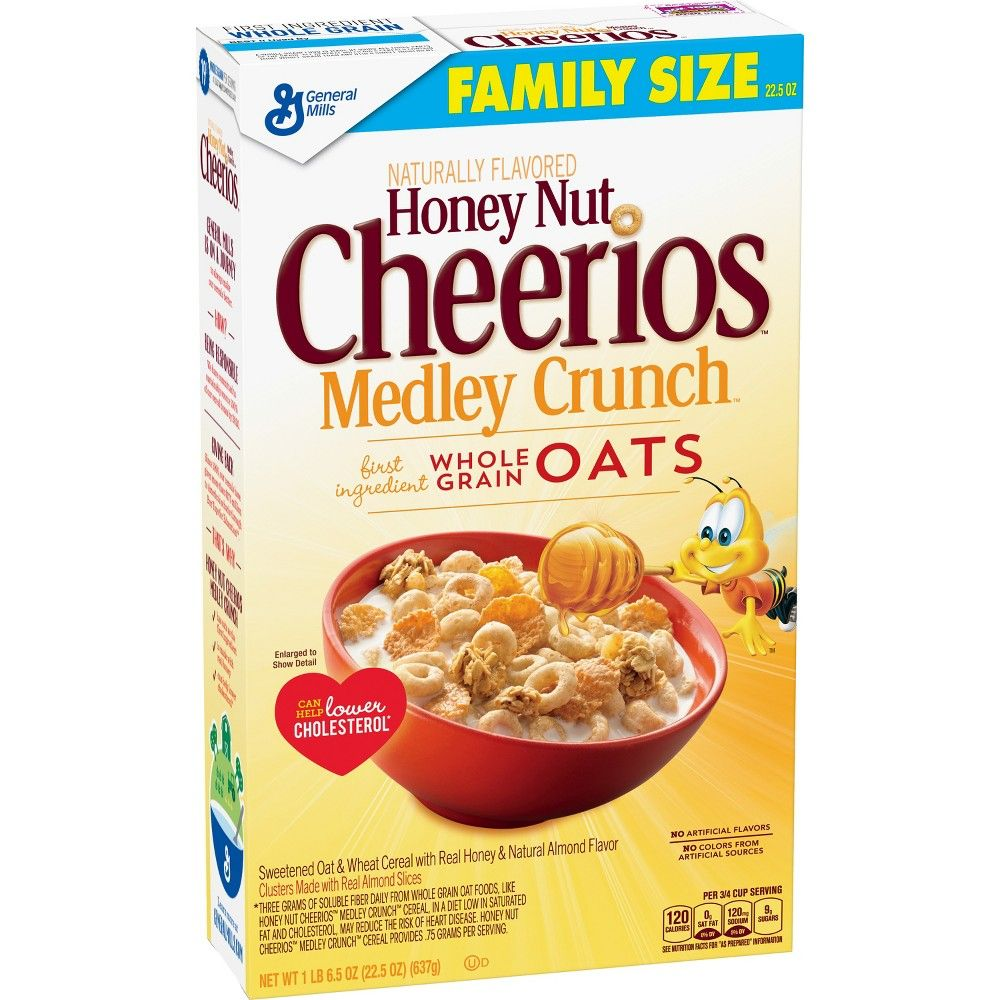 Honey Nut Cheerios Medley Crunch Breakfast Cereal