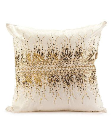 Another great find on #zulily! Cream Embroidered Pillow #zulilyfinds