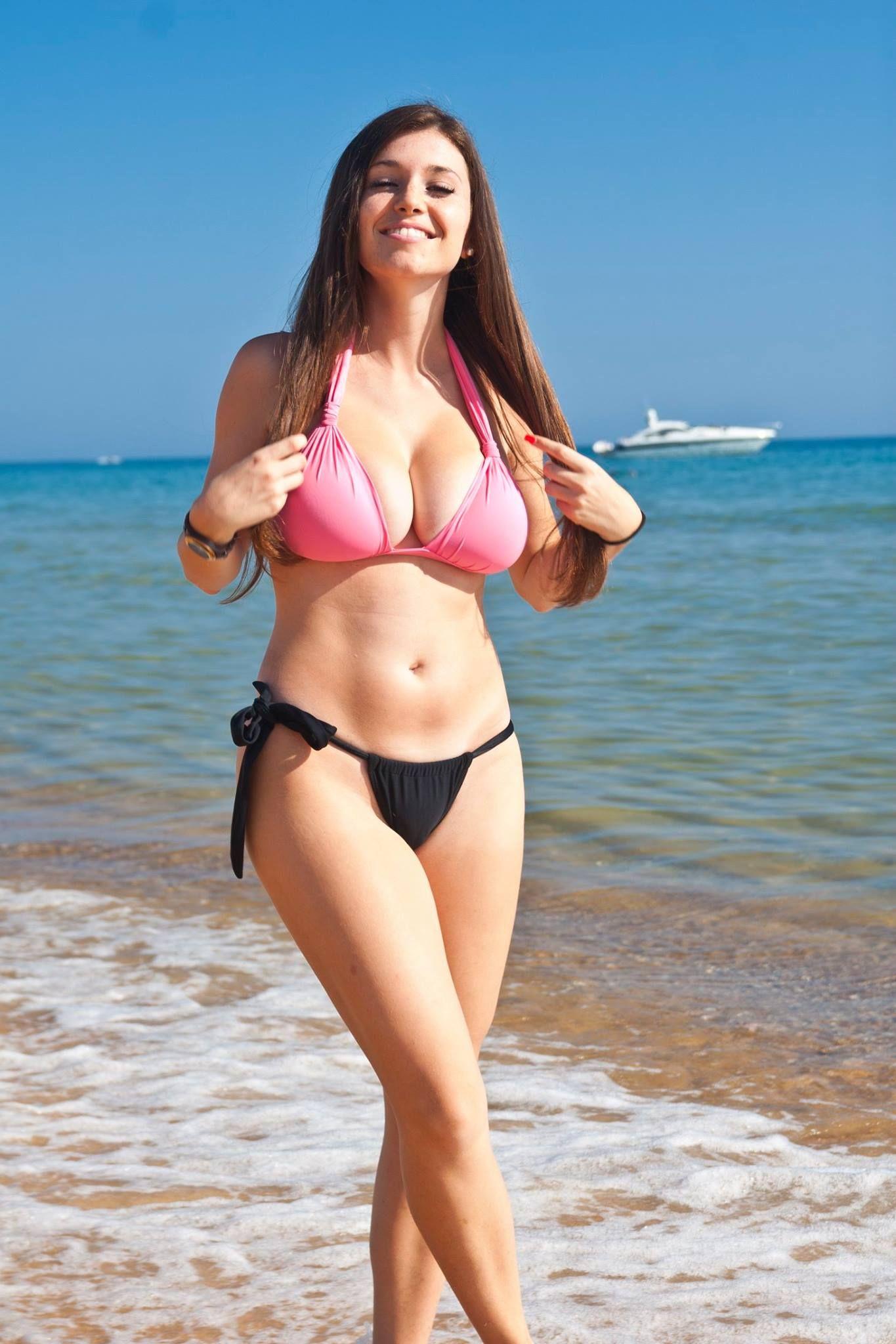 Bikini model see thru
