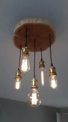 Afbeeldingsresultaat voor schijf boomstam lamp LampMaken