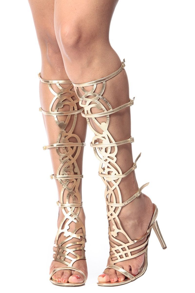 be59e7f1a2992d Simplistic Goddess Gold Gladiator Single Sole Heels   Cicihot Heel Shoes  online store sales Stiletto Heel Shoes