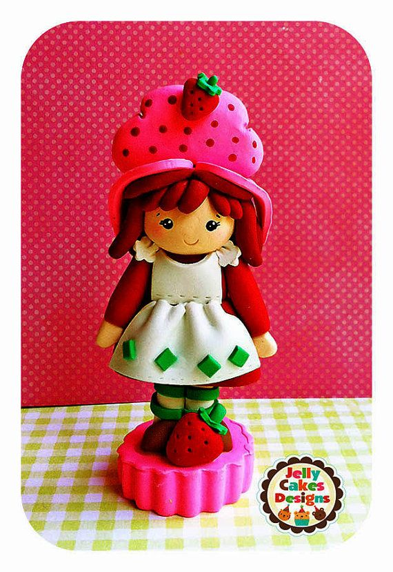 Little Strawberry Shortcake Keepsake Cake by jellycakesdesigns, $24.00