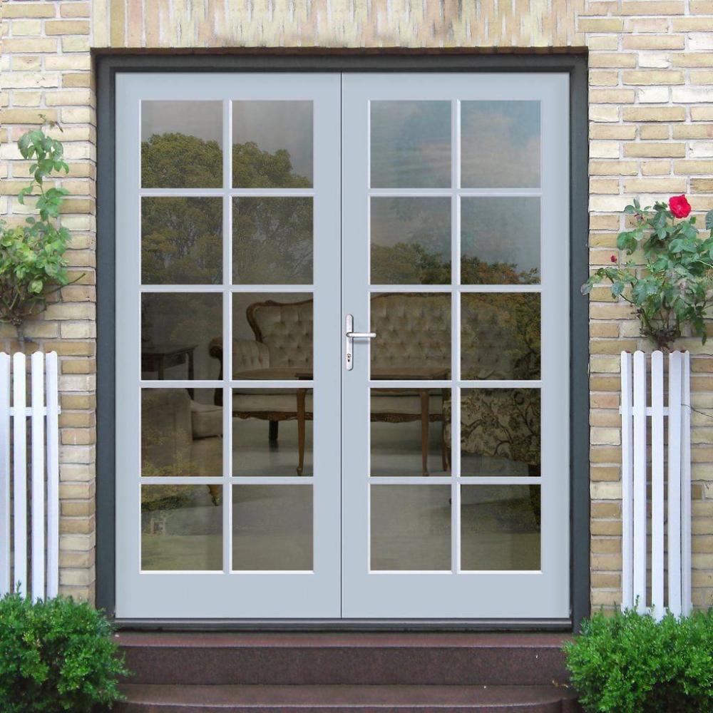 Double Leaf Door With Tempered Glass For Exterior Garden In 2020 External French Doors French Doors French Doors Exterior