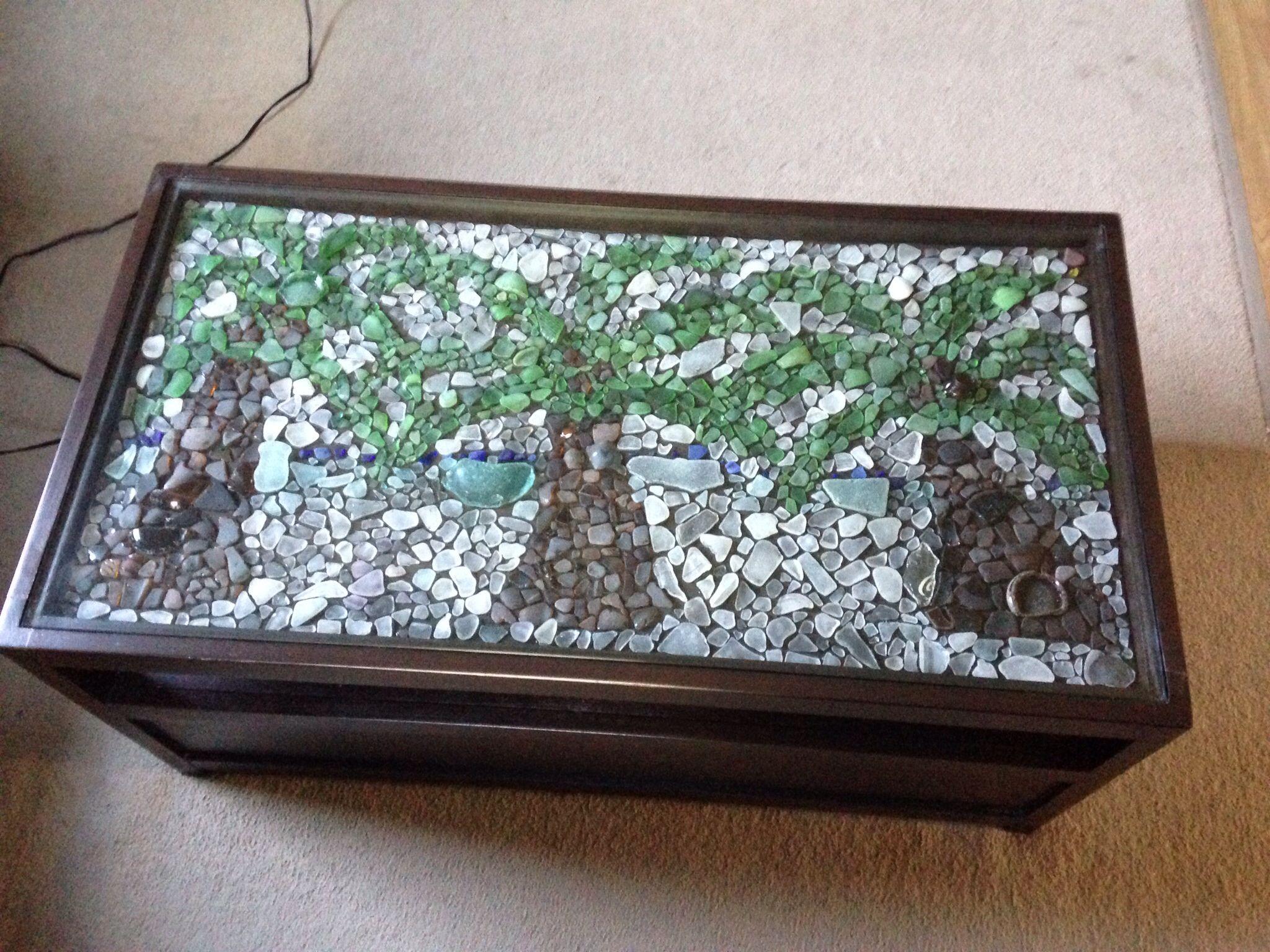 DIY Sea Glass Coffee Table Mosaic I 39 M Crafty