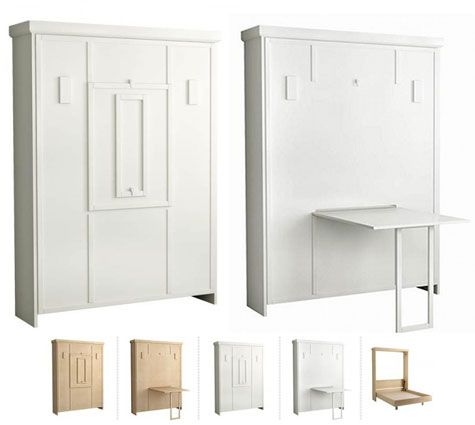 Murphy Bed With Drop Down Crafts Table