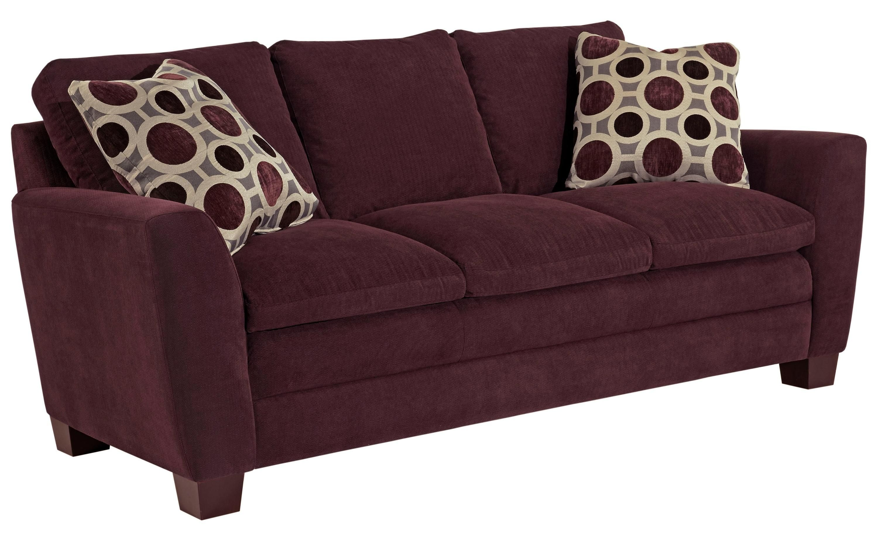 Best Plum Colored Courtney Sofa By Broyhill Furniture Color 640 x 480