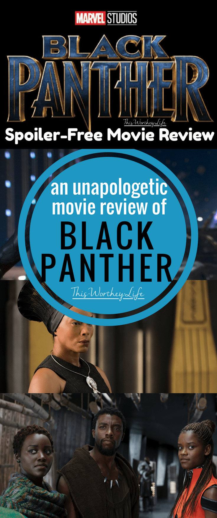 Get an honest review of Marvel's Black Panther Movie. This is a spoiler-free movie review of Marvel's Black Superhero movie. I'm sharing themes expressed throughout this Black Panther Movie Review.