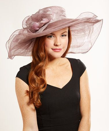 Loving this Lavender Sheer Floral-Accent Sunhat on #zulily! #zulilyfinds