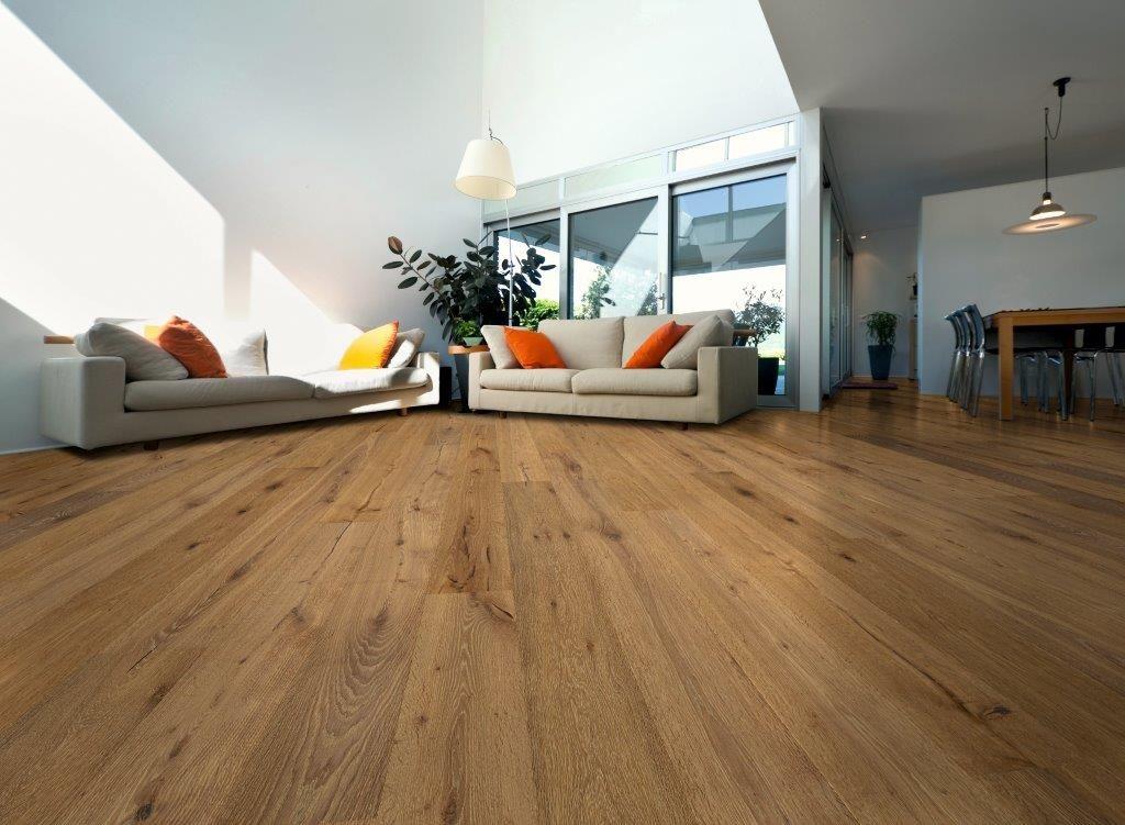landhausdiele eiche lava geb rstet cappuccinobraun ge lt. Black Bedroom Furniture Sets. Home Design Ideas