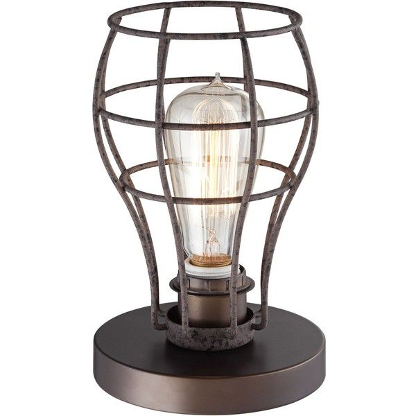 Universal Lighting And Decor Oldham Industrial Uplight Table Lamp (67 AUD)  ❤ Liked On
