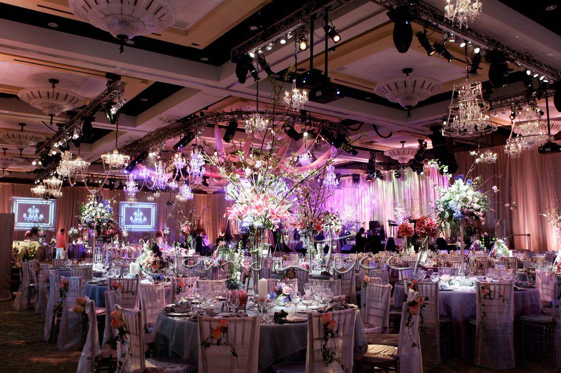 Beautiful Garden Themed Reception in our Calusa Ballroom   Hyatt Regency Coconut Point   Damon Tucci Photography