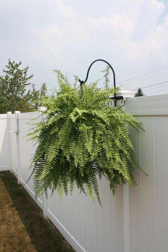 4 Pack Shepherd S Hook For Vinyl Fence Hanging Plants On Fence