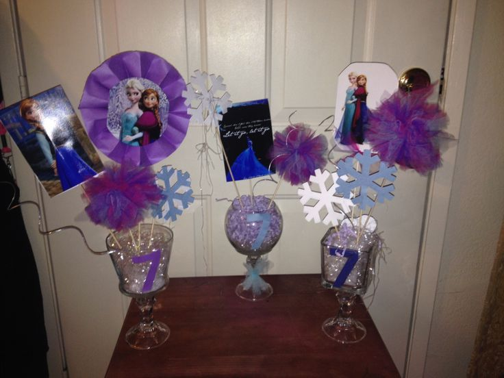 Disney Frozen Party Ideas DIY Disney Frozen Centerpieces For