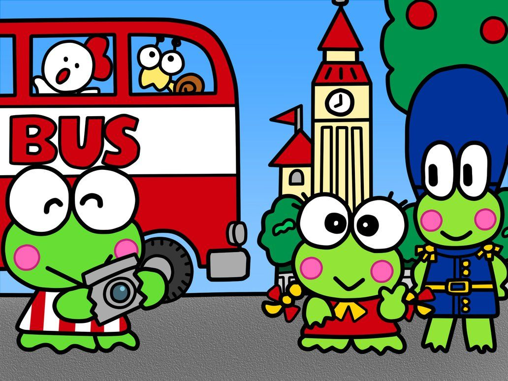 Keroppi And Friends In United Kingdom By Kittykun123