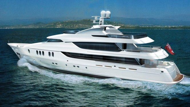 48 M Motor Yacht Rahil Rendering By Reymond Langton Design Yacht