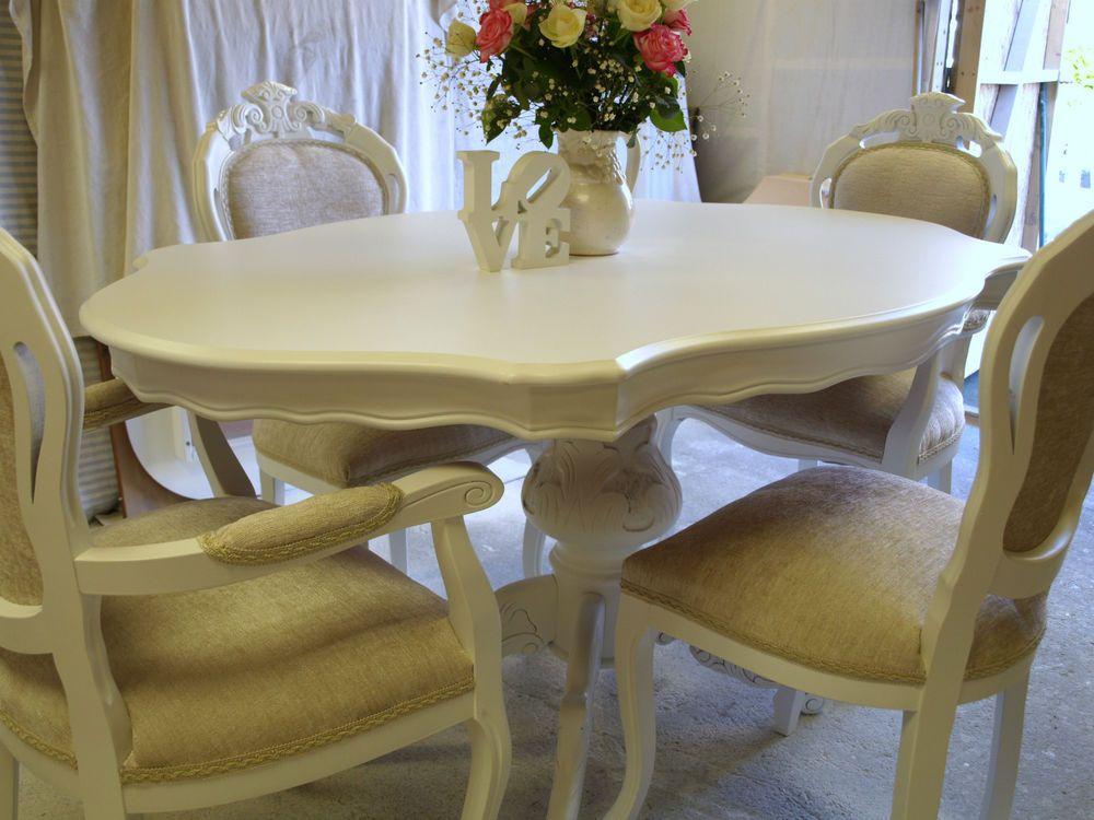 Stunning Italian Shabby Chic Table And 4 Chairs Shabby Chic