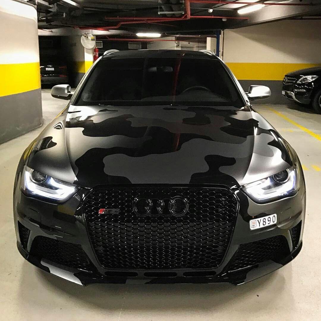 Matte Black Camo Audi Rs 5 Black Audi Camo Car Luxury Cars