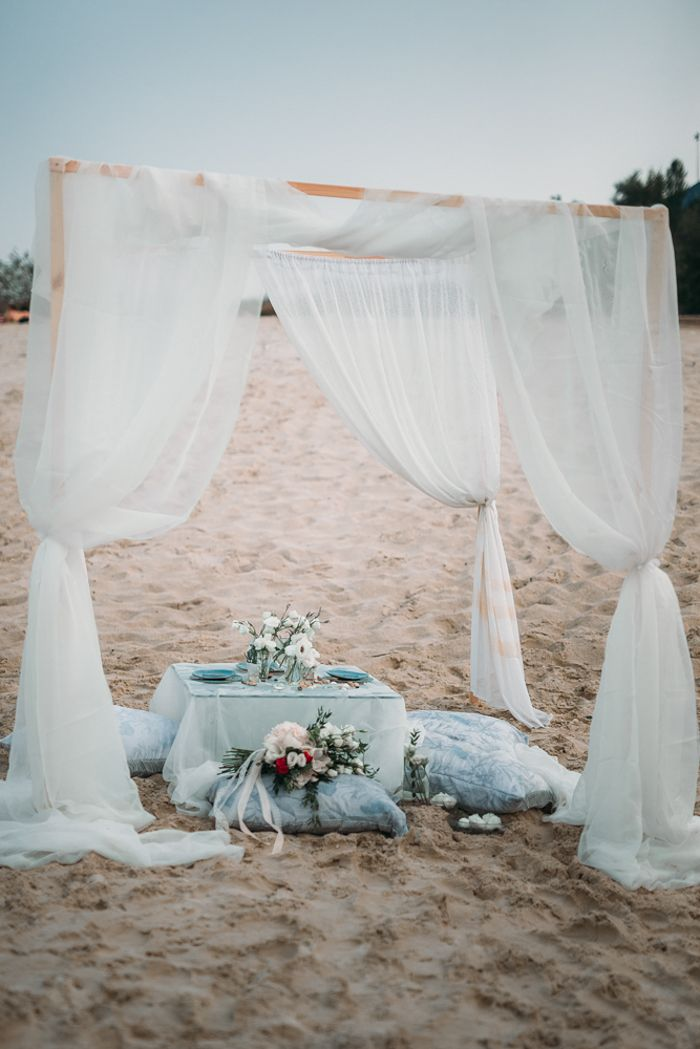 Wedding reception on the beach | fabmood.com #beachweddingdecoration #wedding #weddingdecors