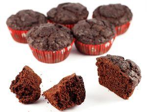 Low-carb Gluten-Free Sugar-Free Choc Muffins - Almond Flour - 2g net carbs per muffin
