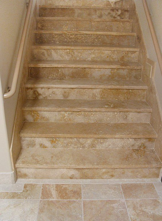 Nice Travertine Stair Treads   Google Search