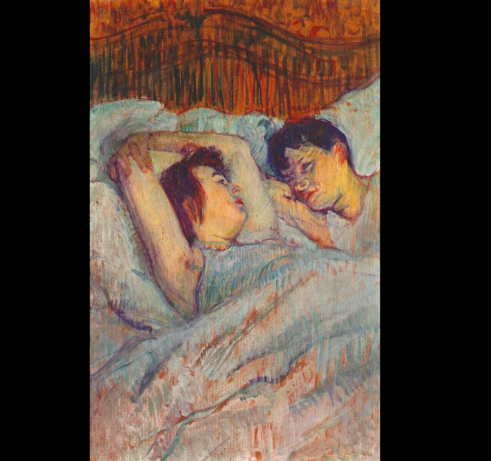 The Bed In 1892 Henri De Toulouse Lautrec Created 4 Paintings Which Depict 2 Women Sharing A Bed Often Henri De Toulouse Lautrec Painting Couple Painting