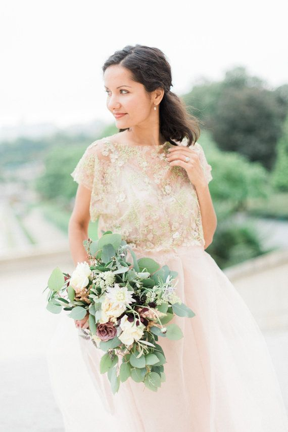 Ad: AMELIA Blush Italian lace and soft tulle lined in silk Unique ...