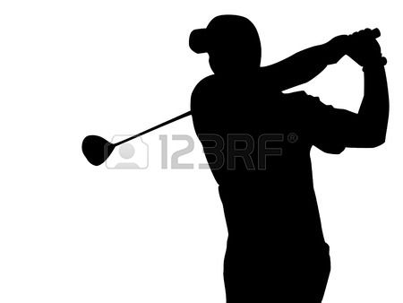 illustration of epa golfer silhouette vector art clipart and stock vectors