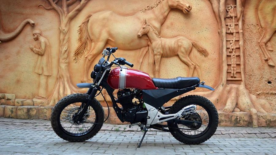 Custom Honda Unicorn 150 Scrambler From Kolhapur Honda Unicorn