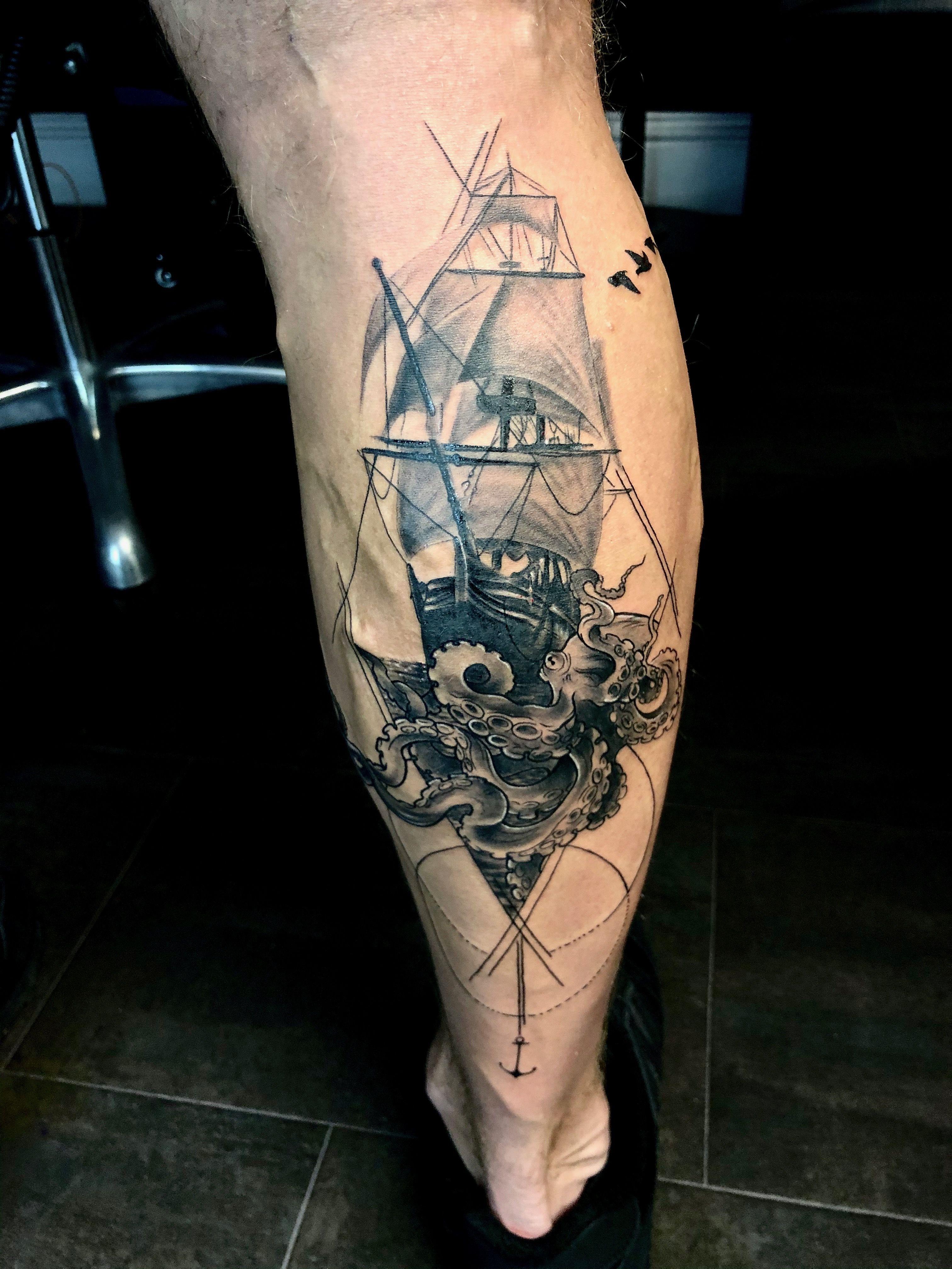 Pin by Alex Leake on Tattoo's Tattoos, Ship tattoo, Ink