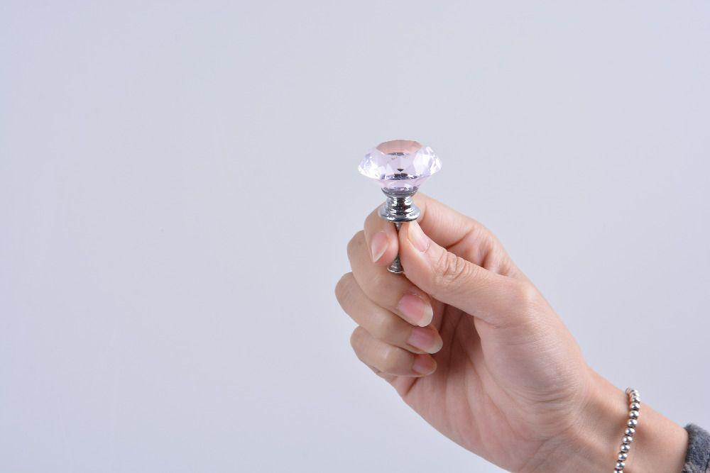 C$ 1.63 Pas Cher Diamant Verre Cristal Bouton De Porte Tiroir Cabinet Tirer  Sur La