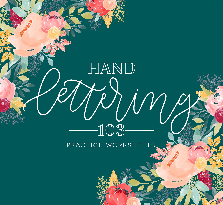 Hand Lettering Practice Worksheets Handlettering Sheets