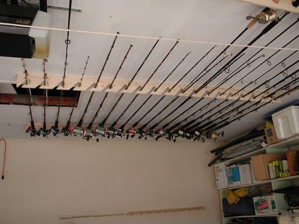 Ceiling Rod Rack Ideas