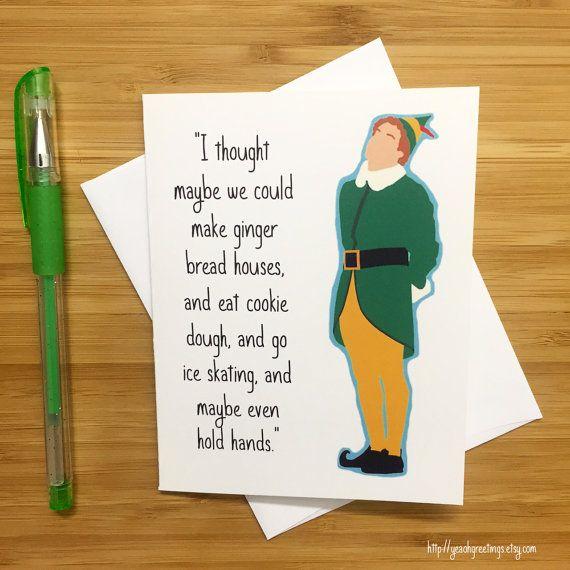 Funny Christmas Card, Elf Holiday Card, Will Ferrell, Buddy The Elf,  Stocking Design