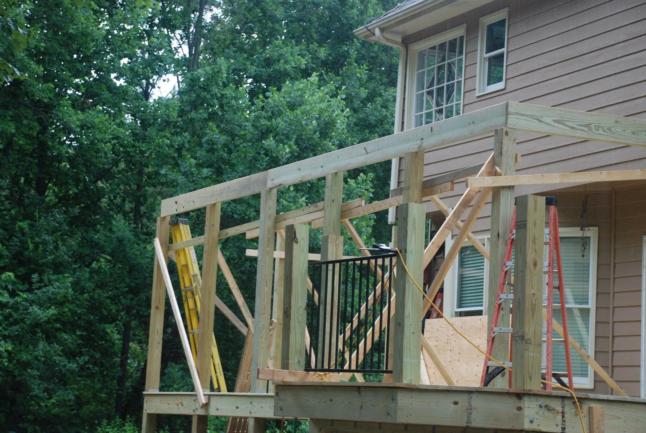Learn How To Build A Shed Style Porch Roof Over Deck