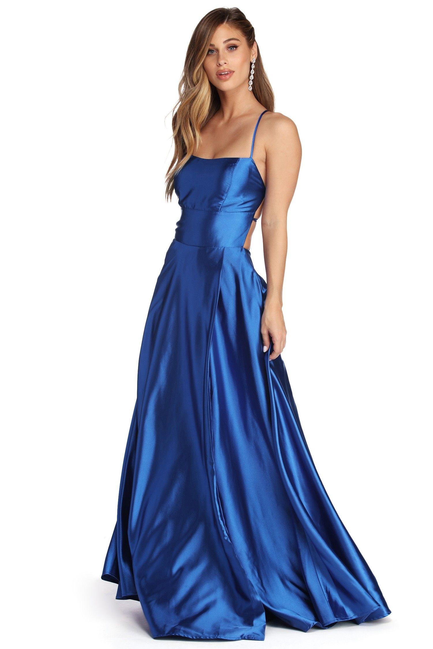 Anne formal lattice satin dress sequin formal dress