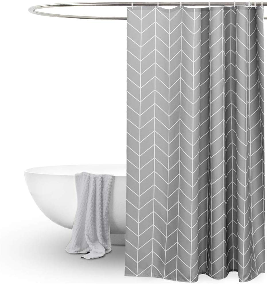 Gray And White Shower Curtain Google Search In 2020 Gray