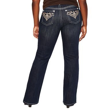 $25.00 a.n.a® perfect fit embroidered jeans - plus - jcpenney