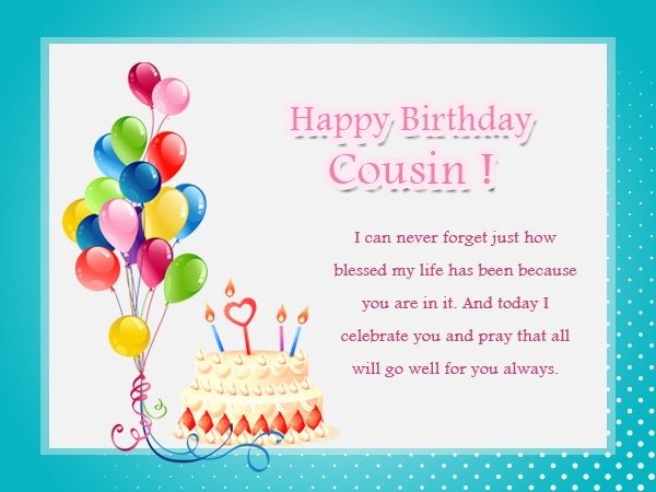 Birthday Wishes For Cousins ~ Cousin birthday images wishes messages and quotes for happy