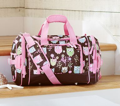 Mackenzie Chocolate Owl Duffle Bag  PotteryBarnKids  5e8b789631f92