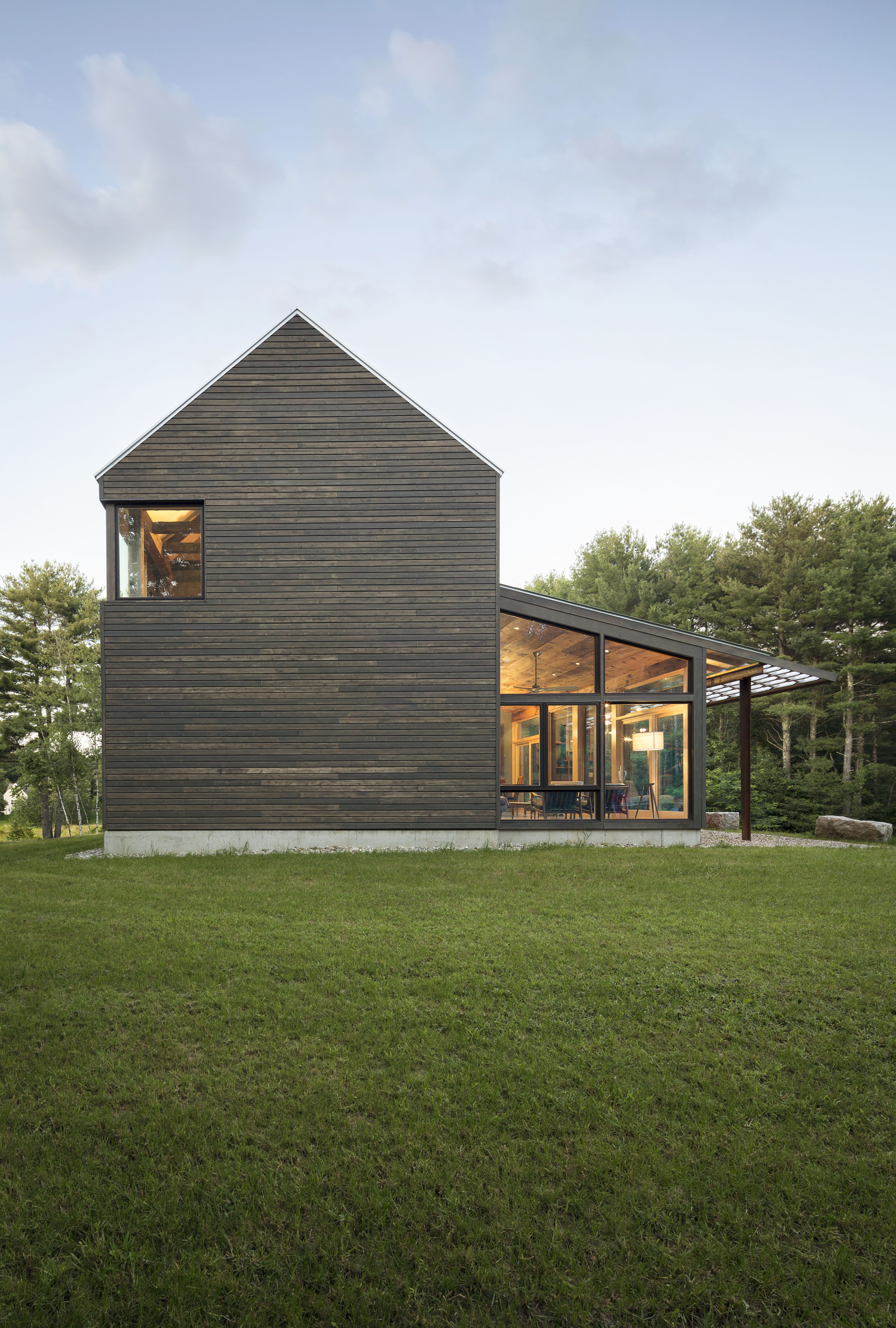 Photo 2 Of 11 In A Maine Farmhouse Built With Salvaged Materials Modern Farmhouse Exterior Modern Farmhouse Farmhouse Exterior